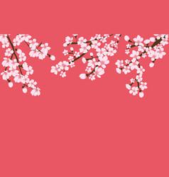 Abstract floral sakura flower japanese natural vector