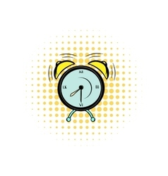 Alarm clock comics icon vector