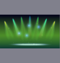 Background with rays of light from the colored vector