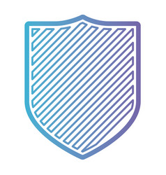 coat of arms with striped in color gradient vector image vector image