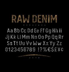 Denim label font 001 vector