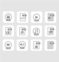 Digital files icon set 1 vector