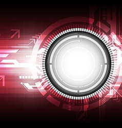 digital technology concept background vector image vector image