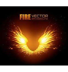 Fire digital design vector image vector image