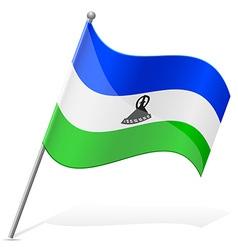 Flag of lesotho vector
