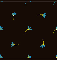 floral pattern in doodle style with flowers vector image vector image