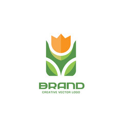 flower logo concept vector image