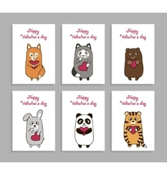 Funny animals hand drawn picture for vector