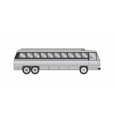 gray bus vector image
