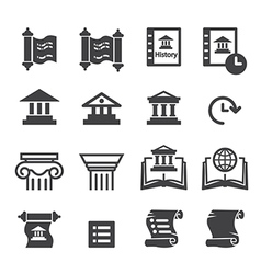 History Icons vector image vector image