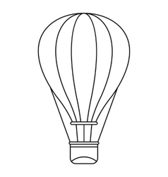 Hot air balloon icon outline style vector image