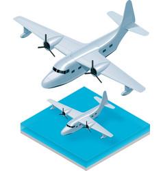 isometric seaplane vector image vector image