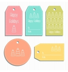 Multicolored christmas gift tags Ready to use vector image