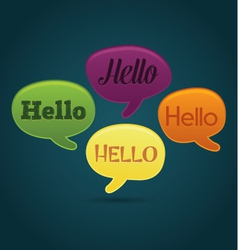 Playful dialog bubbles with hello text vector image vector image