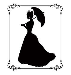 princess silhouette in retro patterned frame vector image vector image