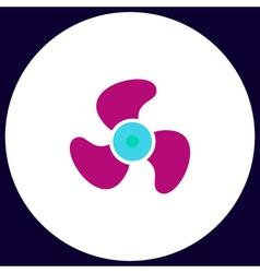 Propeller computer symbol vector image vector image