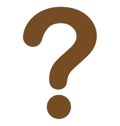 Question flat brown color icon vector