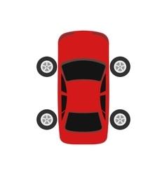 Repair car wheel flat icon vector