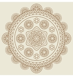 Round hand drawn boho mandala vector image