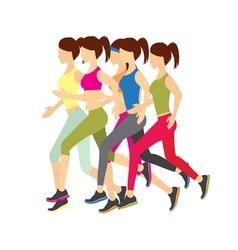 Running girls vector image