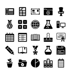 School and education icons 8 vector