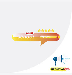 School news icon for journalism of news tv vector