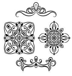 set ornamental element for design vector image