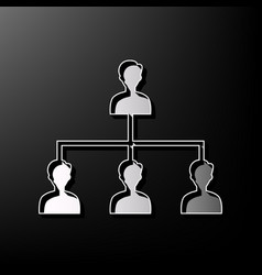 Social media marketing sign gray 3d vector
