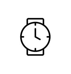 thin line clock wrist watch icon vector image