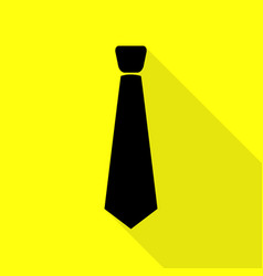 tie sign black icon with flat style vector image vector image