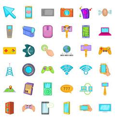 Web money icons set cartoon style vector