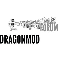What is a dragonmod forum text word cloud concept vector