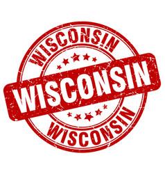 Wisconsin stamp vector