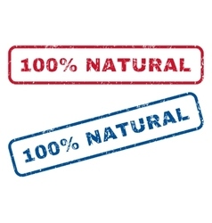 100 percent natural rubber stamps vector