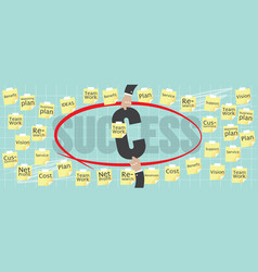 8000x3200 pixel business success concept vector image