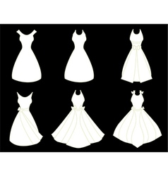 White dresses vector