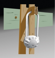 Garage lock vector
