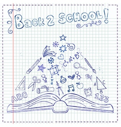 Back to school pen draw vector