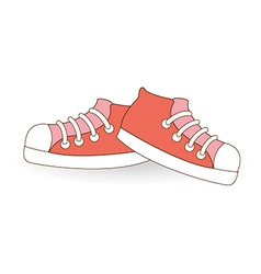Young shoes vector