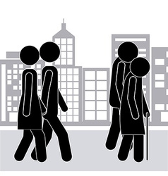 Walking design vector