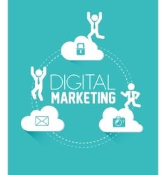 Digital marketing or online marketing vector