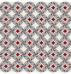 Retro pattern - lines circles and diamond stars vector image