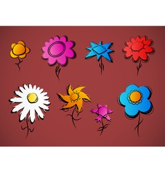Various floral design vector