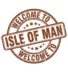 Welcome to isle of man vector