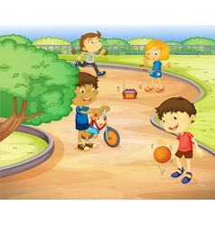 Kids at Playground vector image