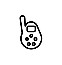 baby monitor thin line icon outline symbol vector image