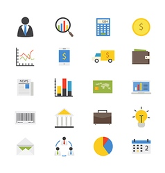 Business and finance money flat icons color vector