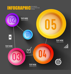 business infographic multicolored templat vector image