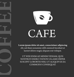 Cafe coffee banner vector