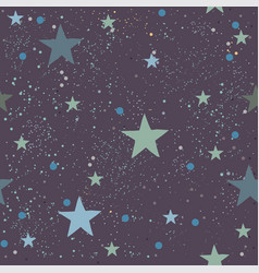 cute seamless star pattern vector image vector image
